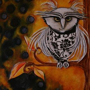 Art: Literary Owl by Artist Deb Harvey