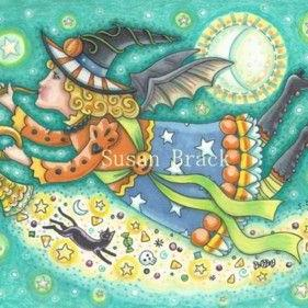 Art: MOONBEAMS AND BAT WINGS by Artist Susan Brack
