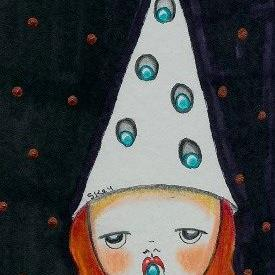 Art: Egg Witch-Sold by Artist Sherry Key