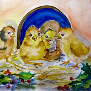 Art: Baby Chicks by Artist Delilah Smith
