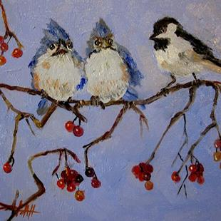 Art: Newcomer Chubby Birds by Artist Delilah Smith