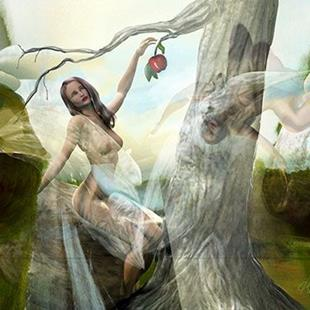 Art: The first temptation of Eve lr.jpg by Artist Alma Lee