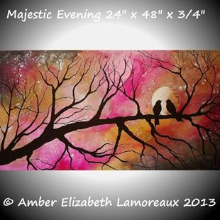 Art: Majestic Evening by Artist Amber Elizabeth Lamoreaux