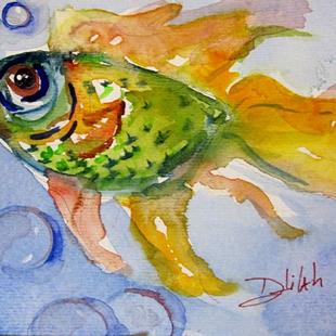 Art: Green Fish by Artist Delilah Smith