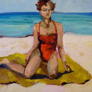 Art: Yellow Beach Blanet by Artist Delilah Smith