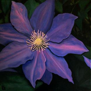 Art: Clematis Royale by Artist Lindi Levison