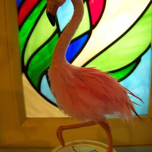 Art: Pink Flamingo by Artist Camille Meeker Turner