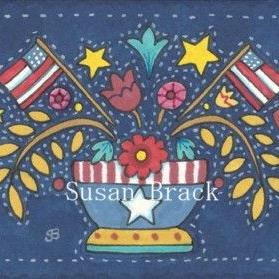 Art: AMERICANA APPLIQUE BOWL Quilt Block by Artist Susan Brack