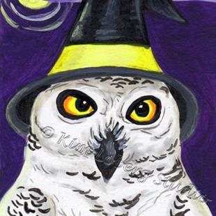 Art: Snowy Owl Witch by Artist Kim Loberg