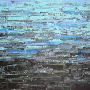 Art: Blue Sea - Abstraction 145 56x40 (140x100cm) (s) by Artist Luba Lubin