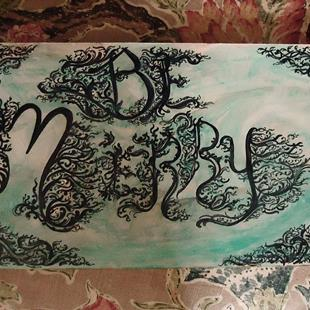 Art: Be Merry Hand Lettered for Cheer by Artist Chris Jeanguenat