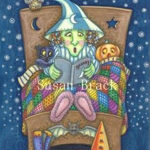 Art: BED TIME STORY by Artist Susan Brack