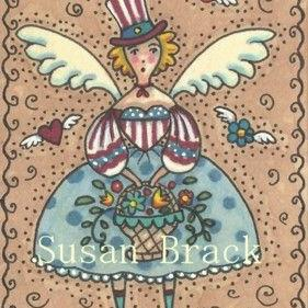 Art: AMERICANA ANGEL - FREEDOM by Artist Susan Brack