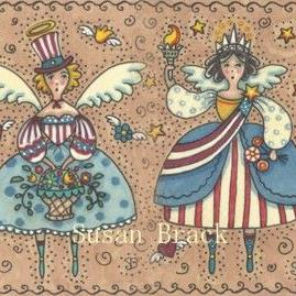 Art: AMERICANA ANGELS Joined #2 by Artist Susan Brack