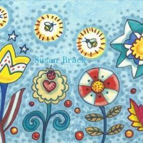 Art: FOURTH OF JULY GARDEN Repeat 2 by Artist Susan Brack