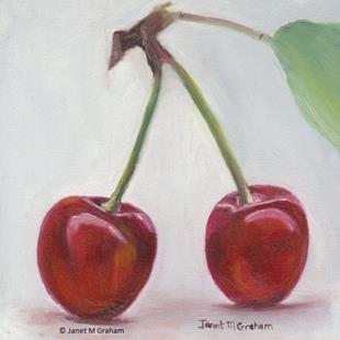Art: Cherries by Artist Janet M Graham