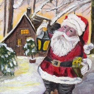 Art: Santa ACEO by Artist Janet M Graham