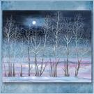 Art: Snow Moon by Artist Patricia  Lee Christensen