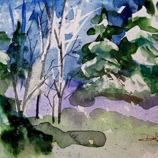 Art: Snow on the Pines by Artist Delilah Smith
