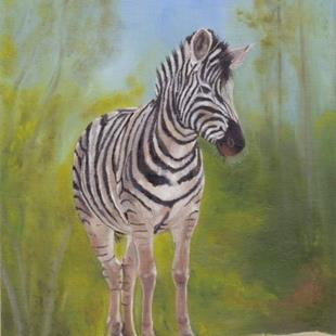 Art: Zebra by Artist Janet M Graham