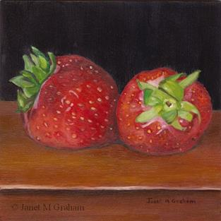 Art: Stawberries by Artist Janet M Graham