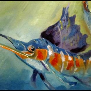 Art: Sailfish by Artist Delilah Smith