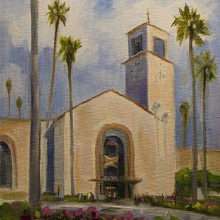 Art: Union Station Los Angeles Railroad station by Artist Karen Winters