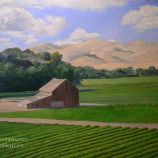 Art: Under Sunny Skies California landscape ranch oil painting SOLD by Artist Karen Winters
