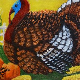 Art: Fred The Turkey (SOLD) by Artist Monique Morin Matson