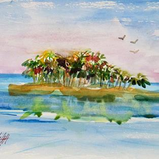 Art: Tropical Island by Artist Delilah Smith