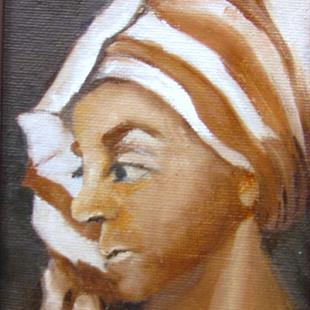 Art: Head Study with Turbin by Artist Barbara Haviland