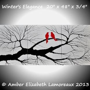 Art: Winter's Elegance (sold) by Artist Amber Elizabeth Lamoreaux
