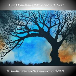 Art: Lapis Windsong Limited Edition Print (01/50) (sold) by Artist Amber Elizabeth Lamoreaux