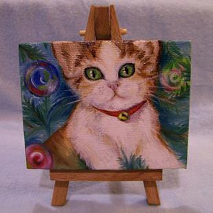 Art: Holiday Kitten by Artist Camille Meeker Turner
