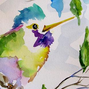 Art: Rainbow Hummingbird by Artist Delilah Smith
