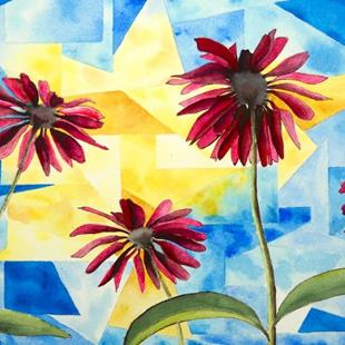 Art: Cathedral Coneflowers by Artist Melanie Pruitt