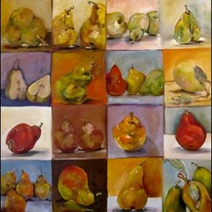 Art: A Study of Pears (640x640).jpg by Artist Delilah Smith