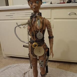 Art: BORG BARBIE (GIFTED) by Artist Vicky Helms
