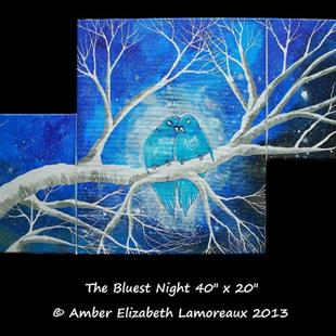 Art: The Bluest Night (sold) by Artist Amber Elizabeth Lamoreaux