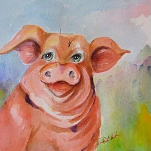 Art: Mr Pig by Artist Delilah Smith