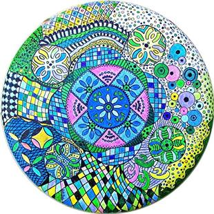 Art: Mandala - Zentangle Inspired Art by Artist Ulrike 'Ricky' Martin