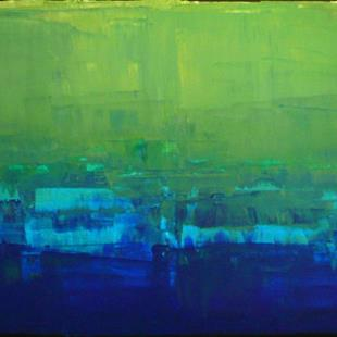 Art: Blue Green Abstraction 149 by Artist Luba Lubin