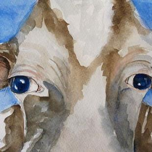 Art: Cow Eyes by Artist Delilah Smith