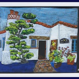 Art: Ole Hanson Bungalow by Artist Joan Hall Johnston