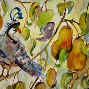 Art: A Partridge in a Pear Tree by Artist Delilah Smith
