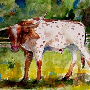 Art: Longhorn by Artist Delilah Smith