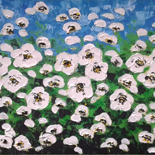 Art: White Flowers (s) by Artist Luba Lubin