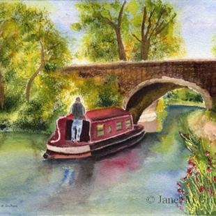 Art: Cruising the canals by Artist Janet M Graham