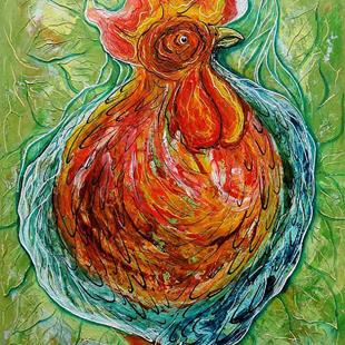 Art: Rooster by Artist Javier Martinez