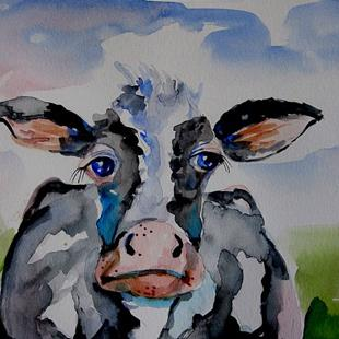 Art: Old Cow by Artist Delilah Smith